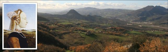 Paesaggio di Battista Sforza